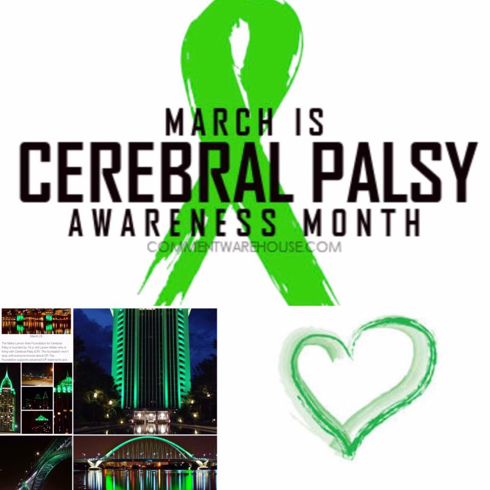 Light Up Cerebral Palsy Awareness Campaign on March 25