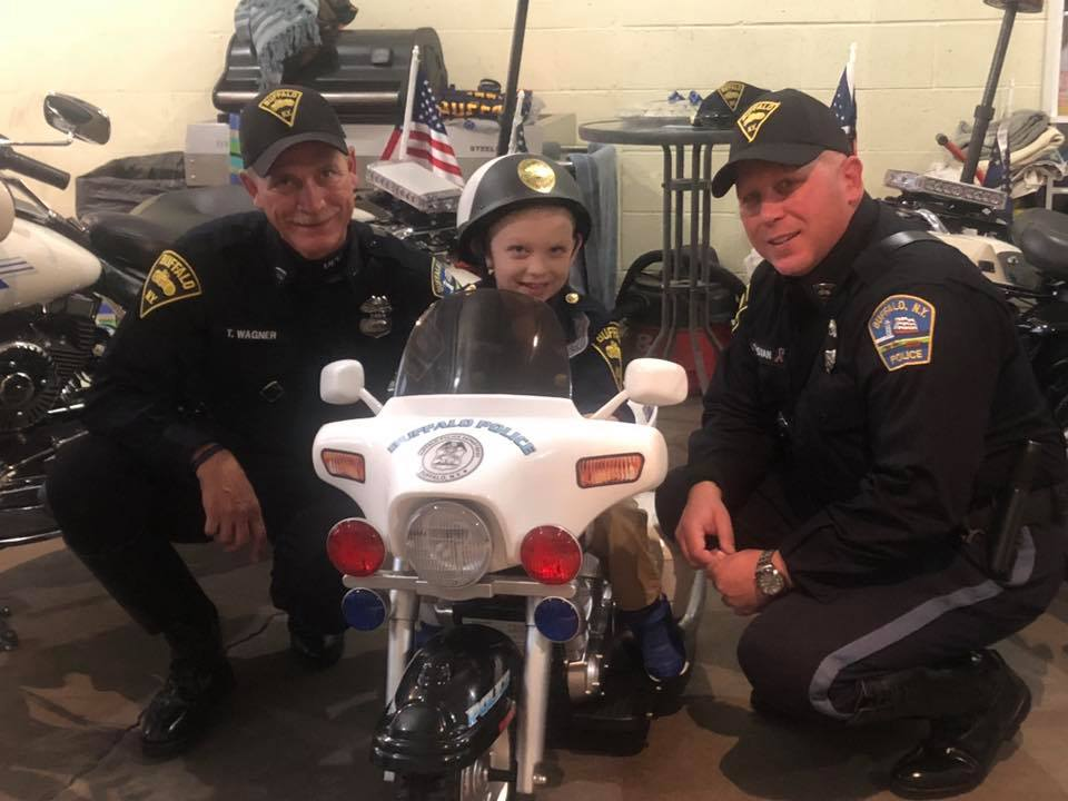 "Buffalo News article: ""Boy's determination inspires two Buffalo cops: 'We're walking with you'"""